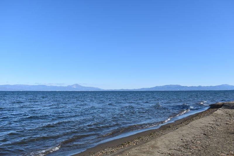 六ツ矢崎浜オートキャンプ場から見える景色