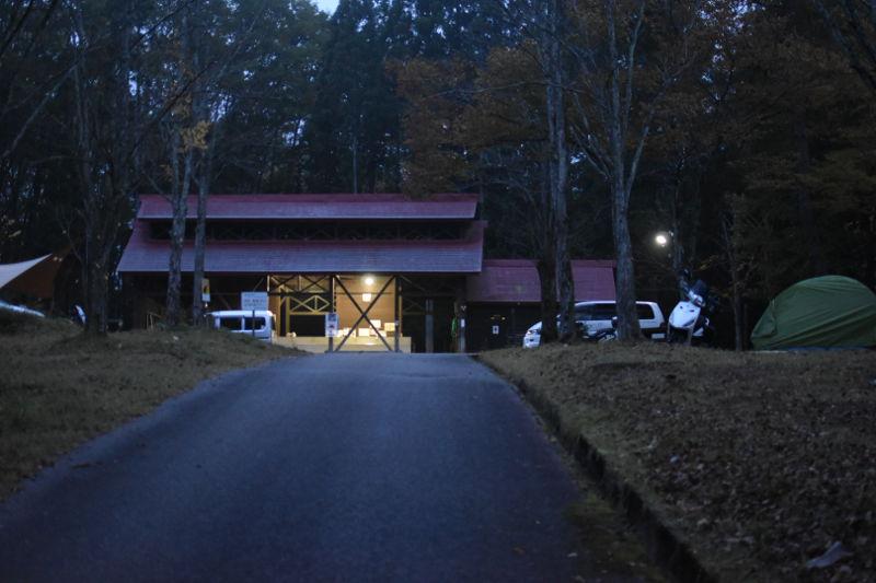 飛騨市森林公園キャンプ場の明け方