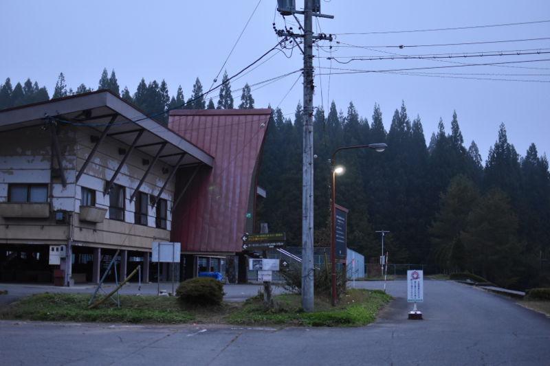 飛騨市森林公園キャンプ場の旧管理棟