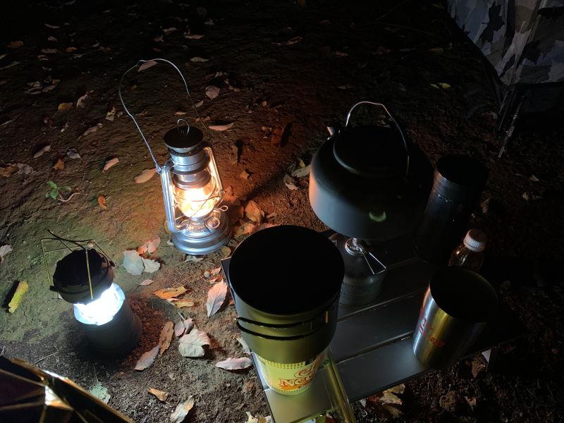 飛騨市森林公園で夕食の準備