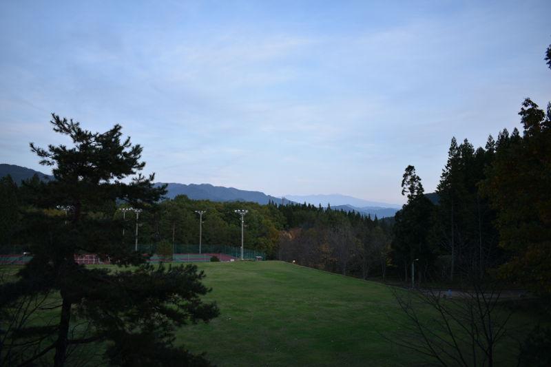 飛騨市森林公園キャンプ場の展望台からの景色