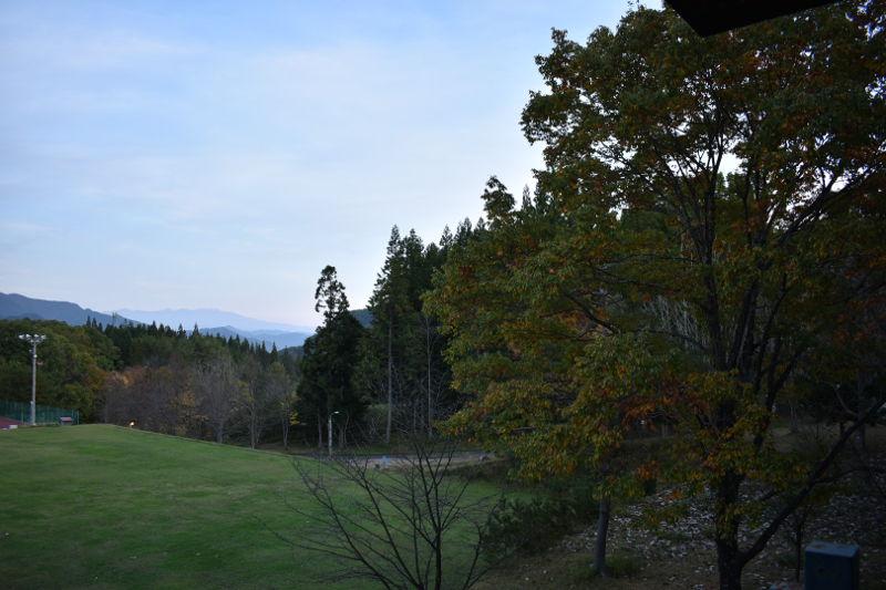 飛騨市森林公園キャンプ場の展望台から見た景色