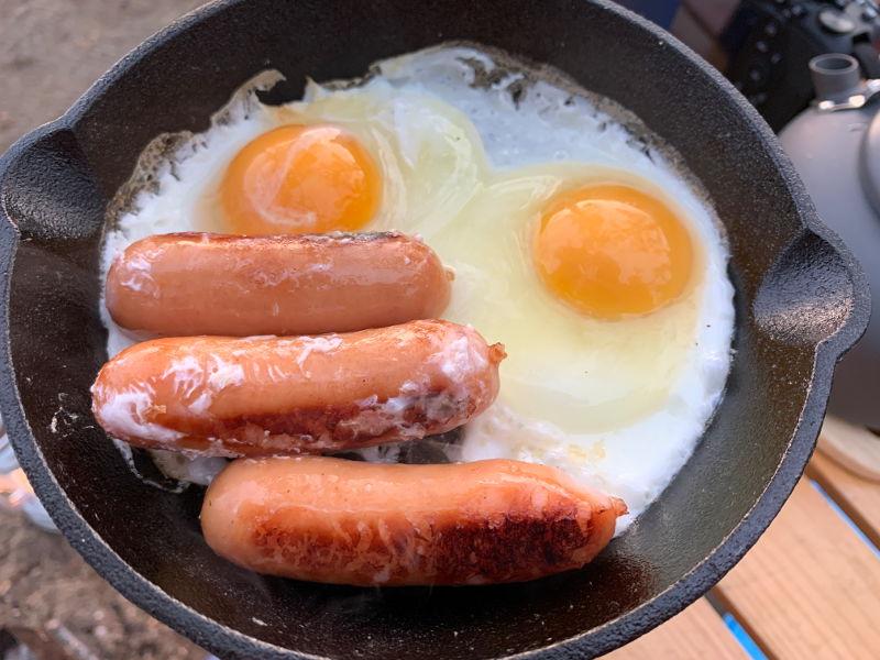 六ツ矢崎浜オートキャンプ場で朝食2