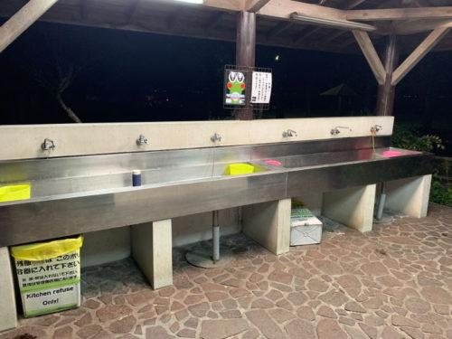 六ツ矢崎浜オートキャンプ場の炊事場2