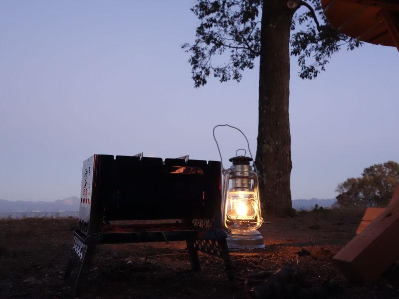 六ツ矢崎浜オートキャンプ場の夕焼け