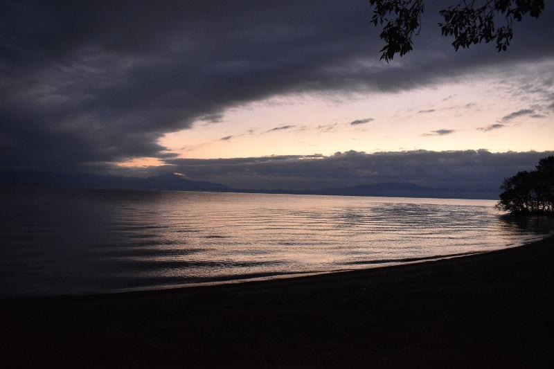 六ツ矢崎浜オートキャンプ場の朝焼け