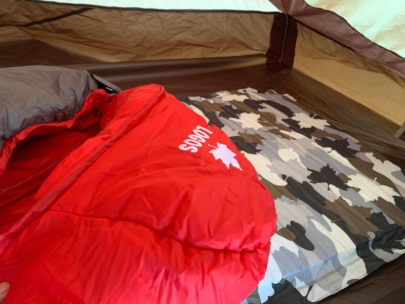 インフレートマットと寝袋