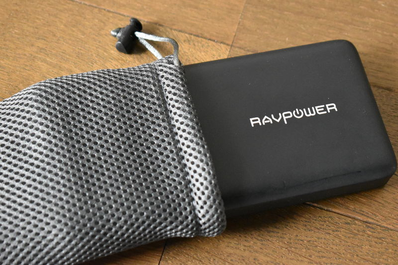 RAVPower RP-PB058を収納ケースに入れる