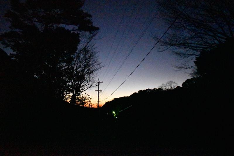 宇賀渓キャンプ場の朝焼け
