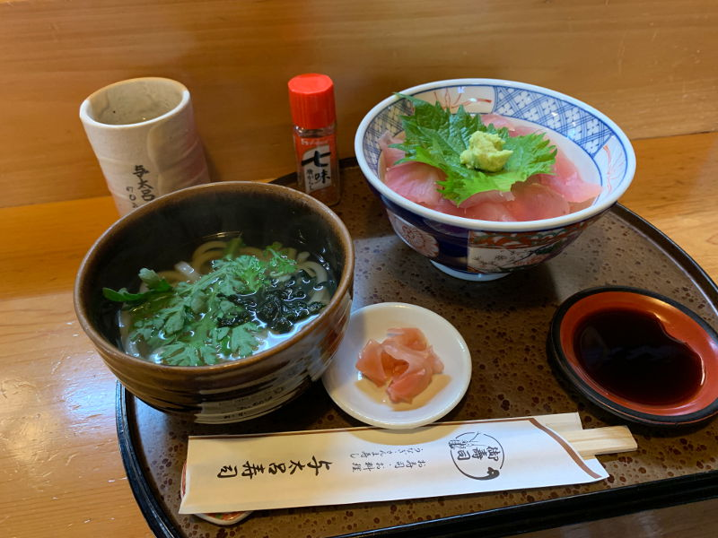 与太呂寿司のマグロ丼セット
