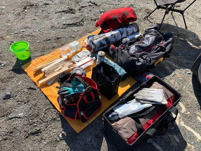キャンプ道具一式