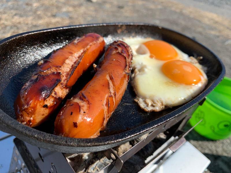 粕川オートキャンプ場で昼食