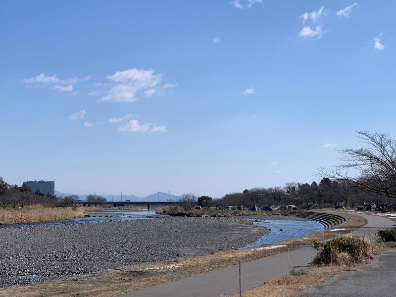 粕川オートキャンプ場の景色