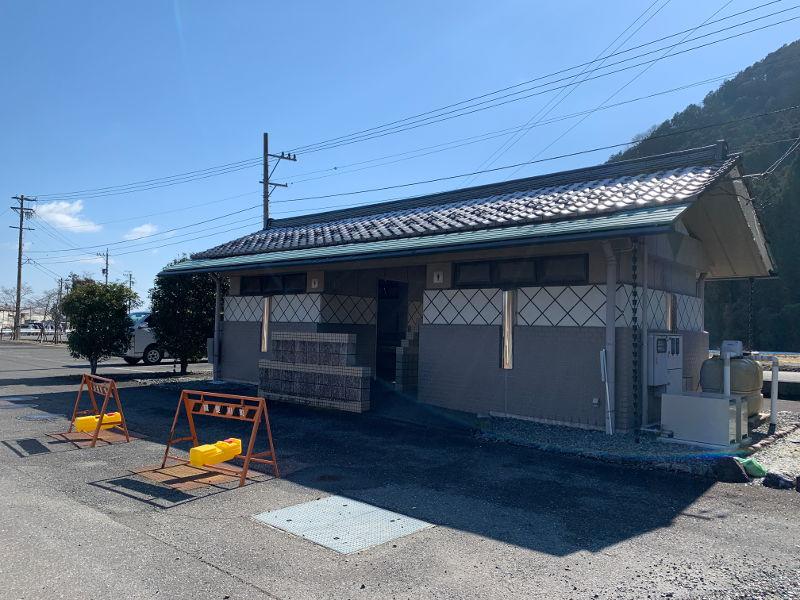 粕川オートキャンプ場のトイレ