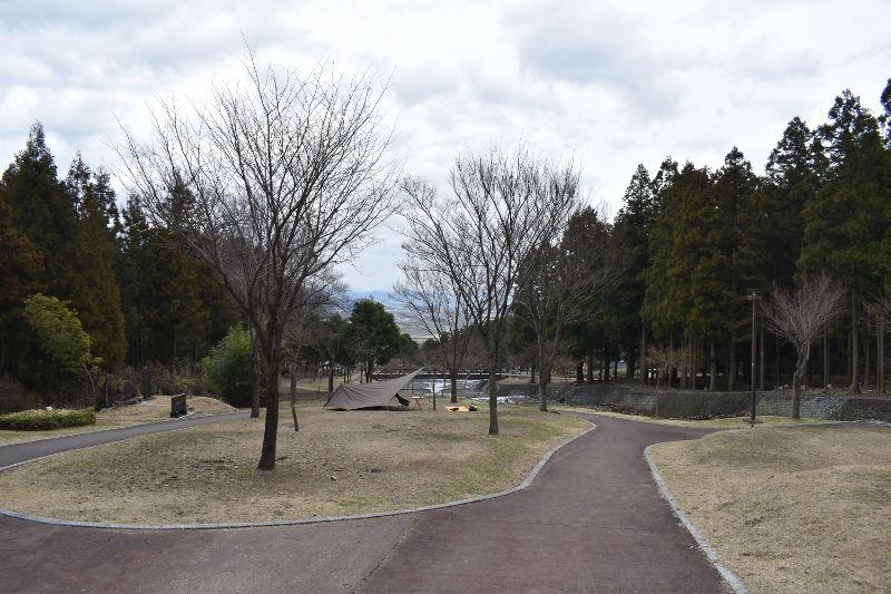 大津谷公園キャンプ場西側上段