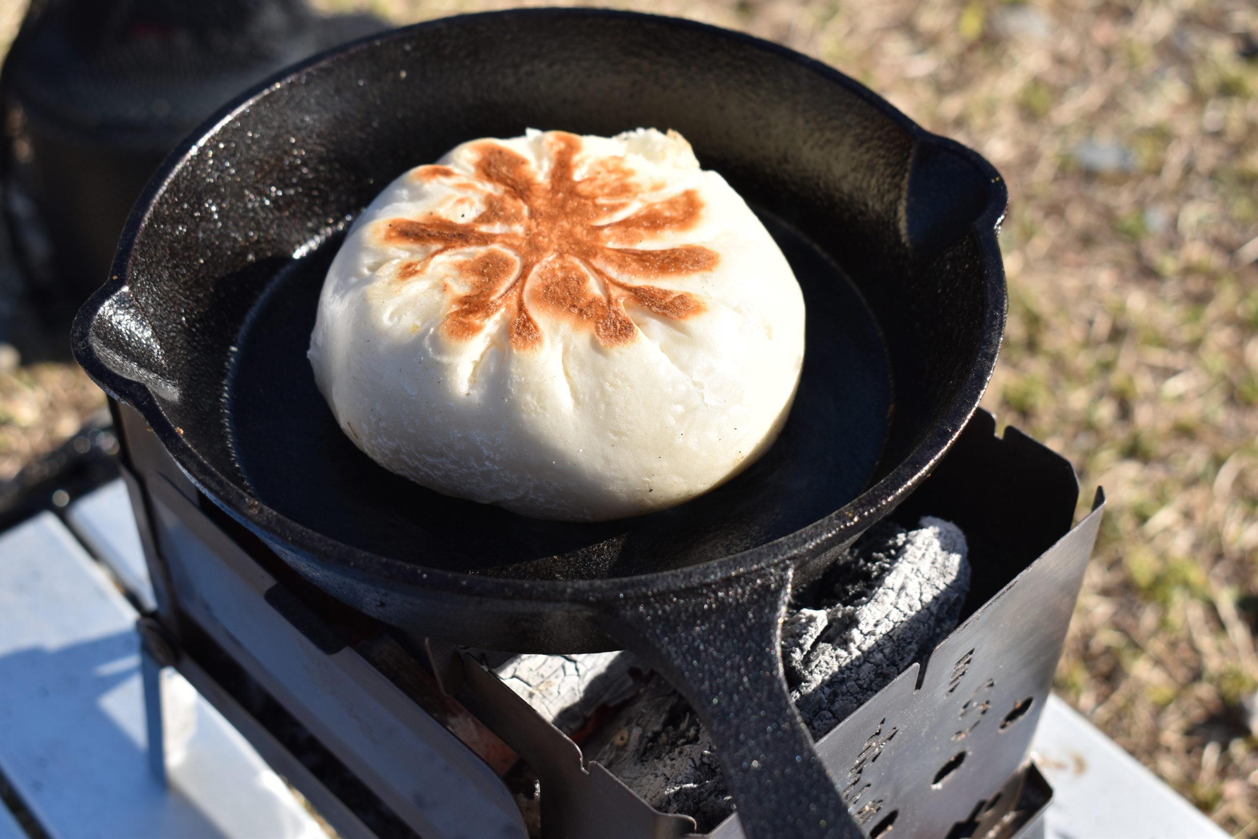 くのわき親水公園キャンプ場の朝食1