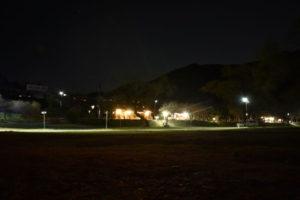 夜のくのわき親水公園キャンプ場