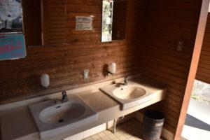 くのわき親水公園キャンプ場の洗面台