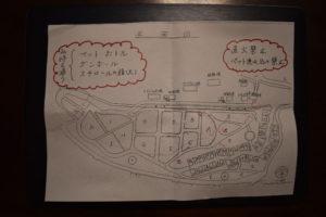 くのわき親水公園キャンプ場の区画図