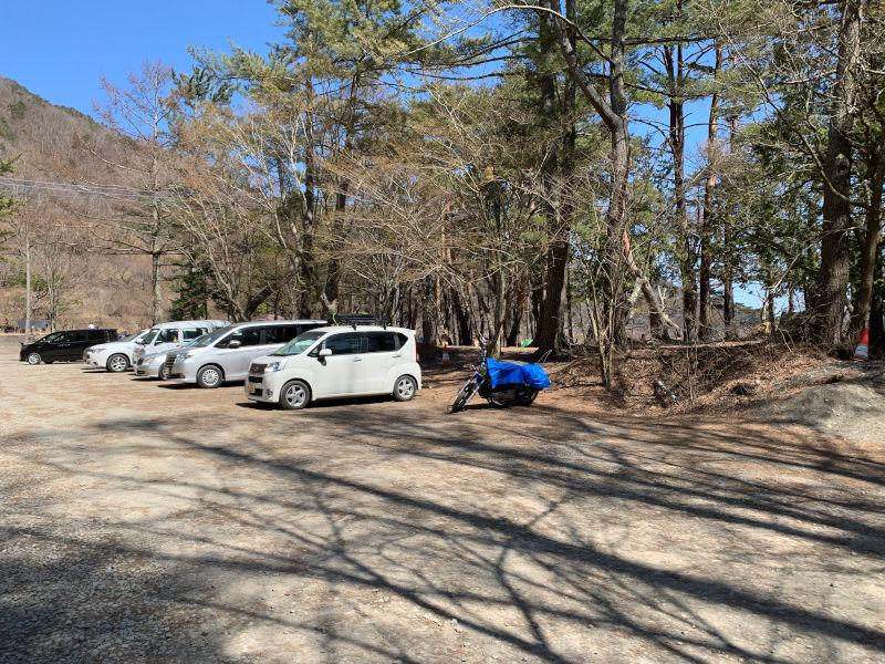 浩庵キャンプ場の駐車場