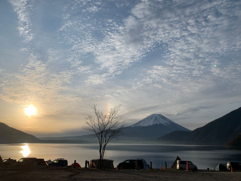 早朝の浩庵キャンプ場