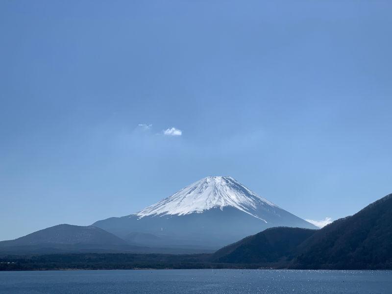 浩庵キャンプ場で見る富士山