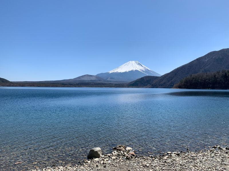 浩庵キャンプ場と富士山