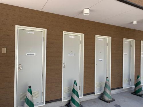 浩庵キャンプ場のシャワー(昼)