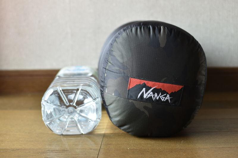 山渓×NANGA オーロラ600DX CAMOの収納サイズ