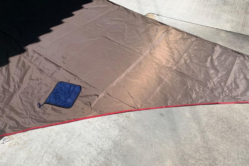 テントの掃除