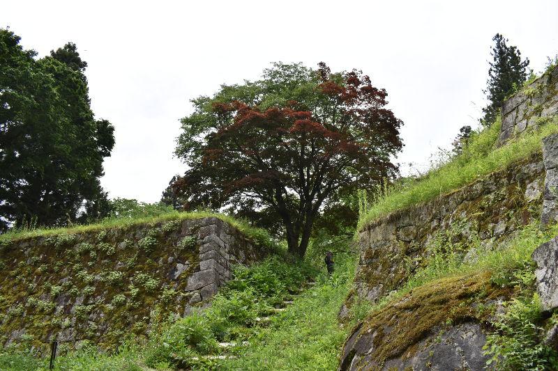 岩村城址の道