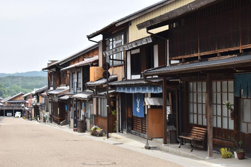 岩村町の古い街並み