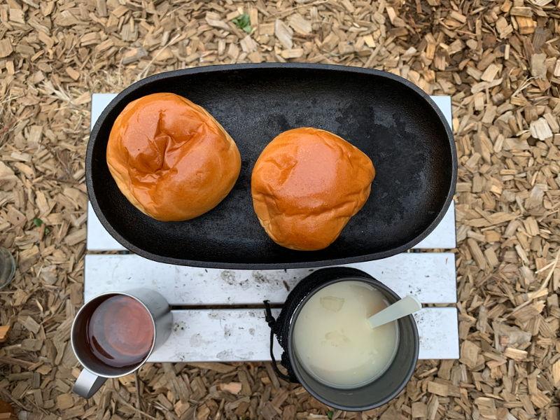 山梨キャンプの朝食