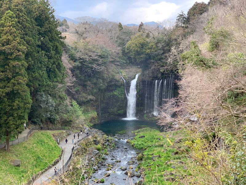 白糸の滝の晴れ間