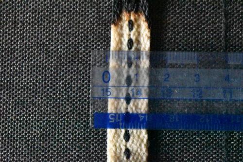 オイルランタンの芯の幅