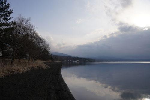 レイクロッジヤマナカからみた山中湖